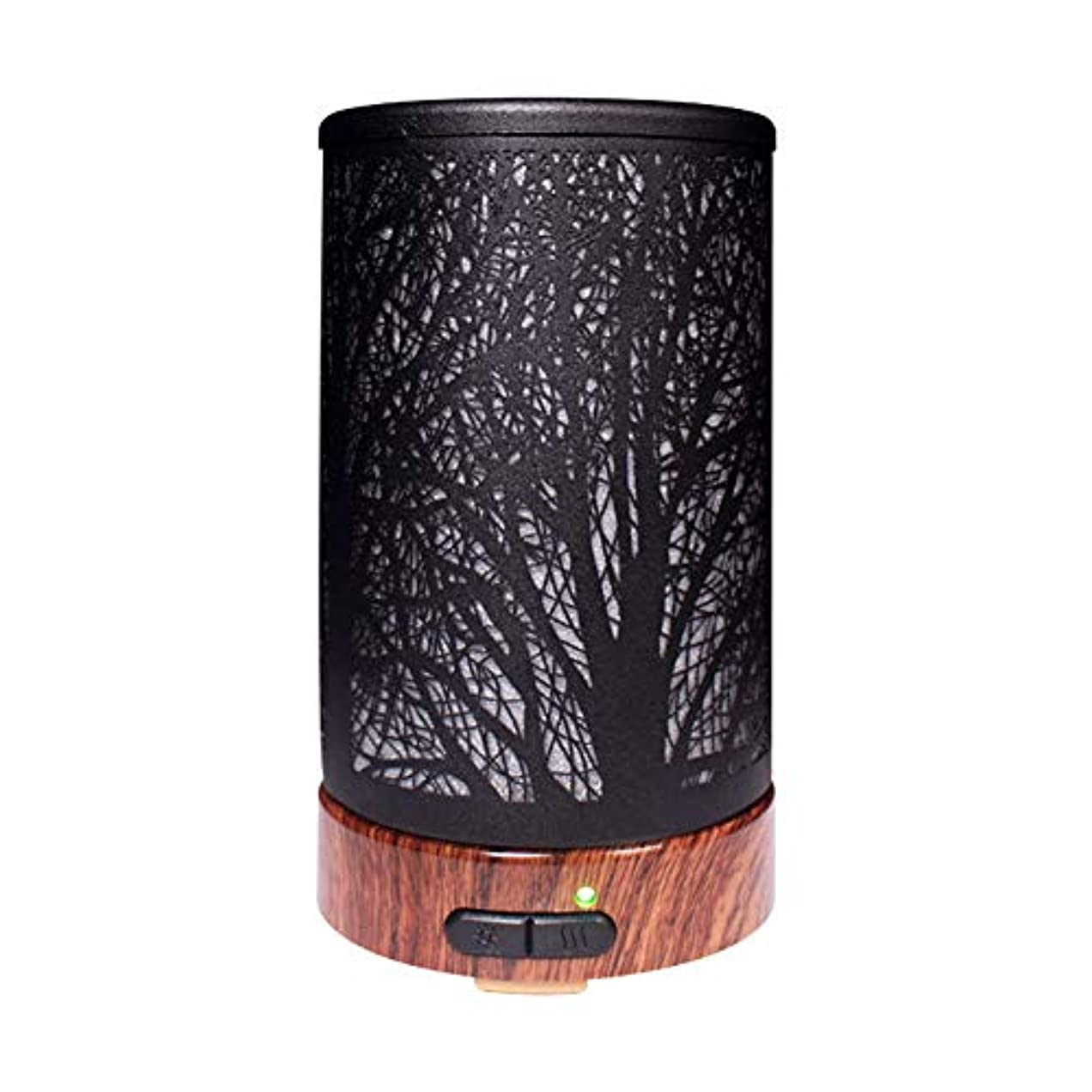 批判的引っ張るコミットメントエッセンシャルオイルディフューザーと加湿器、ミストエッセンシャルオイルアロマ加湿器用の超音波アロマディフューザー、7色LEDライト