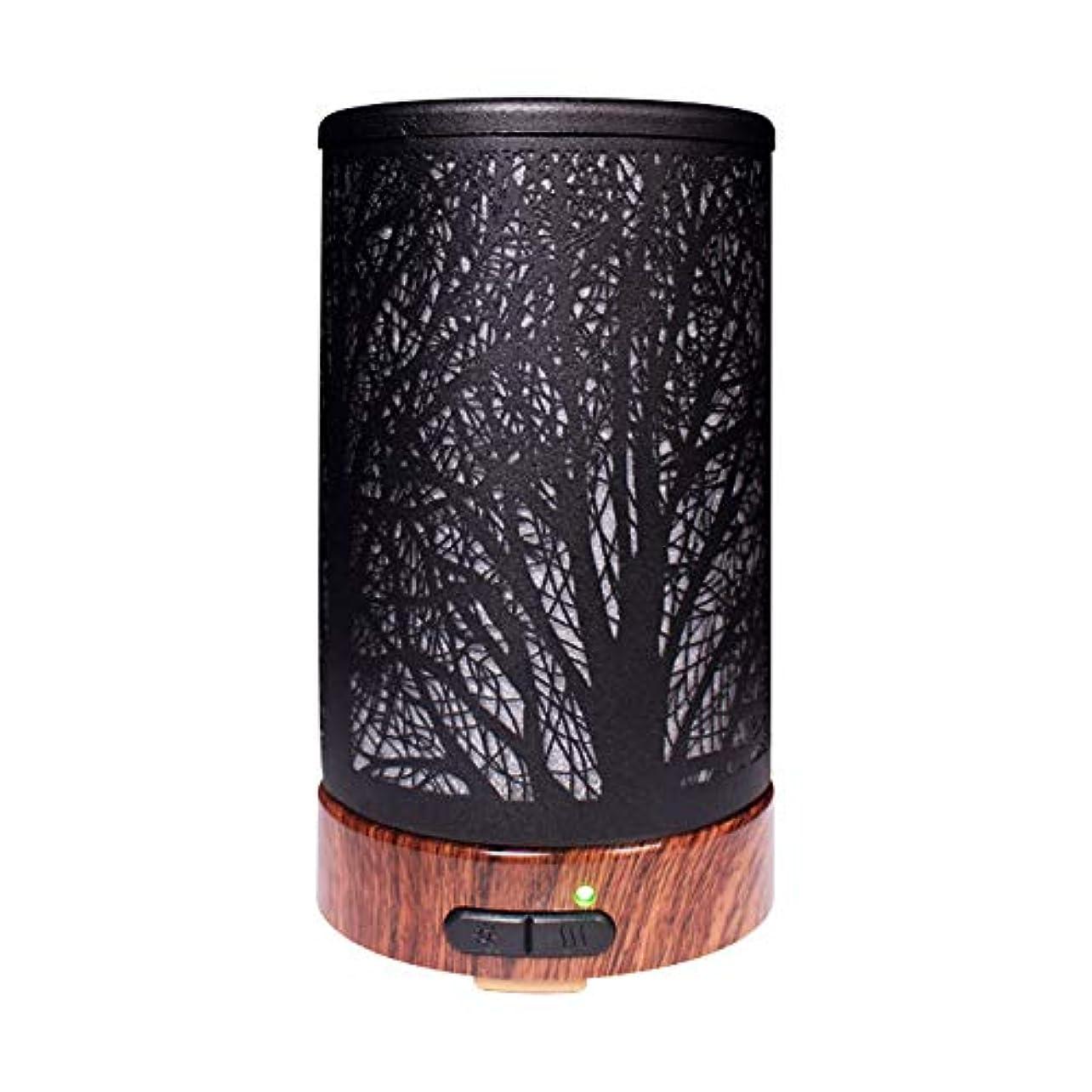 ファーム請うローズエッセンシャルオイルディフューザーと加湿器、ミストエッセンシャルオイルアロマ加湿器用の超音波アロマディフューザー、7色LEDライト