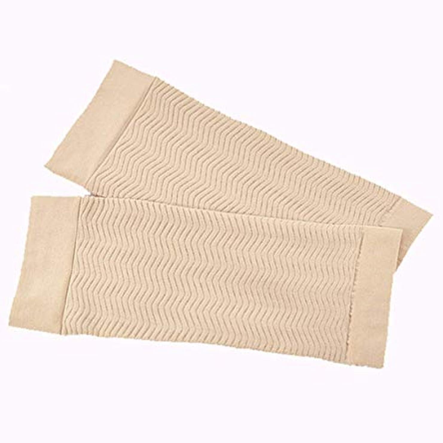 温かい一過性ウェブ二の腕 シェイパーサポー UV対策 ふくらはぎ むくみ 対策 (肌色)