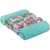 Junior Joy Swaddle Flannel Blankets, Mint by Junior Joy