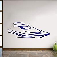 Ansyny スピードボートの壁のステッカー家の装飾取り外し可能なビニールアートステッカー船の接着剤壁のステッカー29 * 76 Cm