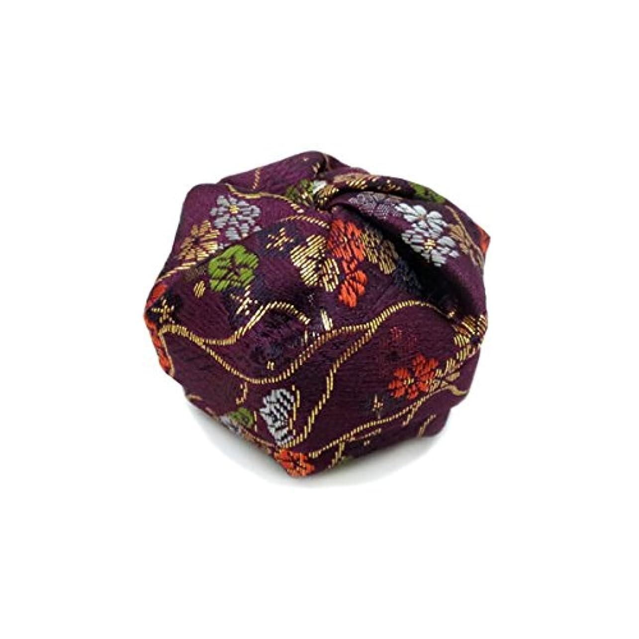 通り抜ける回転するデンマーク語布香盒 紫系 紙箱入