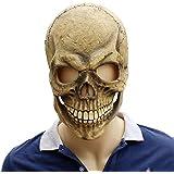 ラテックスラバーマスク、不気味なホラーブレインヘッドマスクハロウィンコスチュームパーティーハロウィンファンシードレスプロップのために恐ろしい顔マスク
