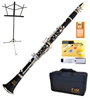 Bridgecraft WCL-GBK1 Apprentice Series Bb Clarinet Package Simulated Wood Grain Finish with Care Kit Stand and Deluxe Case [並行輸入品]