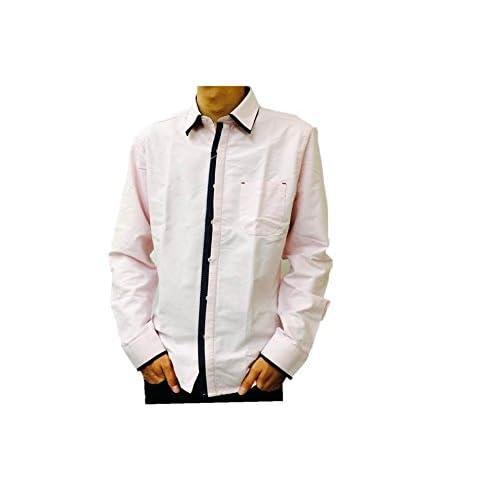 (キャンディーファンタジー)candy fantasy オックスフロント半比翼2枚衿長袖シャツ 15000 2 ピンク M
