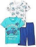 [マザウェイズ] コットンバッグ入り トップス2枚入り 半袖パジャマ ボーイズ 4104C 全5柄 ターコイズ 日本 110.0 (日本サイズ110 相当)