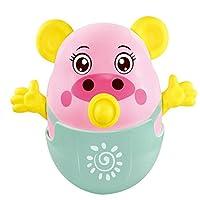 wanrane Cute Kids Roly - Poly ToyセーフベビーシャワーTeether Rattle Pigタンブラー知的開発おもちゃ(ピンク)