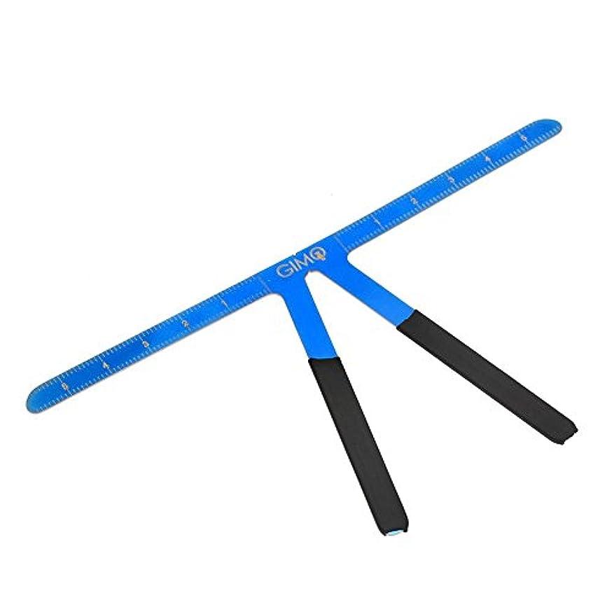 恒久的な 眉毛の定規 再利用可能 3点バランスの位置決め 測定ツール(青)
