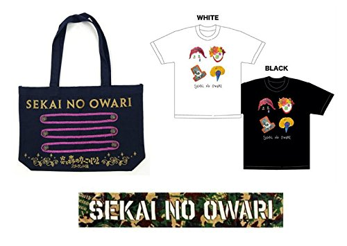 SEKAI NO OWARI 炎と森のカーニバル スターランド編 ナポレオントートバッグ + マフラータオル + Tシャツ Mサイズ 計4種