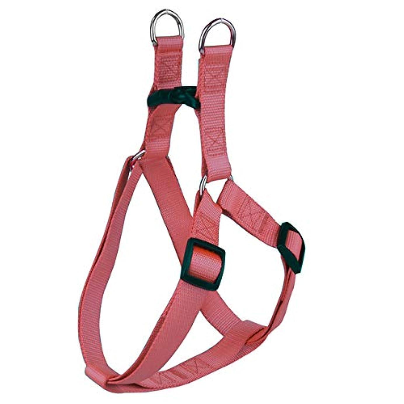 学校鉄道黄ばむNylon Pet Dog Harness No Pull Adjustable Dog Leash Vest Classic Running Leash Strap Belt for Small and Medium Dogs Red Brown L