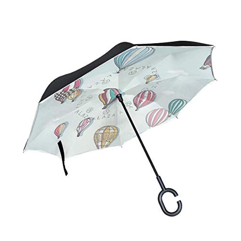 ハンサムより多いモニカ逆傘 逆さ傘 長傘 日傘 逆折り式傘 晴雨兼用 梅雨対策 UVカット 耐強風 C型 二重構造 車用 熱気球