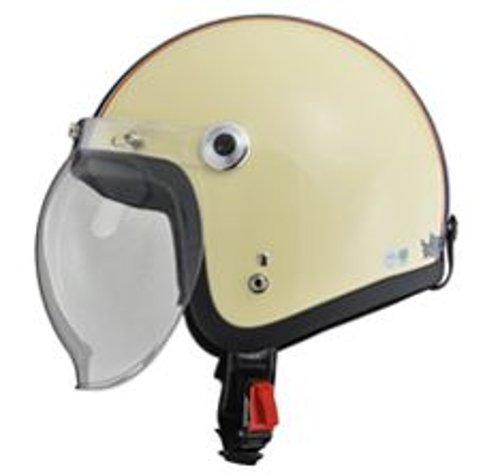 リード工業 バイクヘルメット ジェット BARTON BC-10 アイボリー ネイビー フリーサイズ 57~60cm未満