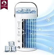 チチロバ(TITIROBA) 冷風機 冷風扇 スポットクーラー 卓上 扇風機 小型 usb 冷風器 送風機 ポータブルエアコン ミニクーラー パーソナルクーラー 暑さ 熱中症対策 グッズ 加湿 冷却 空気清浄 ミスト 風