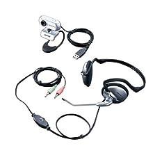 iBUFFALO  Webカメラ Cmos130万画素 ヘッドセット付 シルバー BWC130H01SVA
