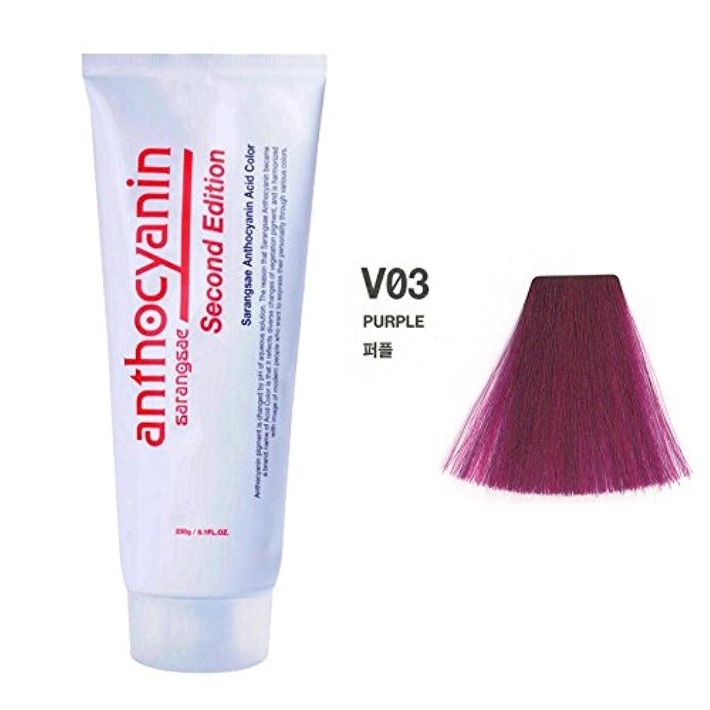 セラー統合条約ヘア マニキュア カラー セカンド エディション 230g セミ パーマネント 染毛剤 ( Hair Manicure Color Second Edition 230g Semi Permanent Hair Dye) [並行輸入品] (V03 Purple)