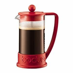 【正規品】 BODUM ボダム BRAZIL フレンチプレスコーヒーメーカー 0.35L レッド 10948-294