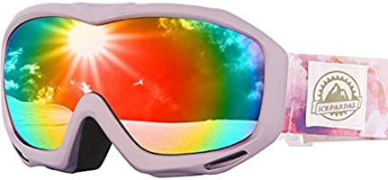 ICEPARDAL(アイスパーダル) スノーボード ゴーグル レディース 日本企画品 曇り止め加工 ダブルレンズ 簡単脱着 全10色 IBP-782