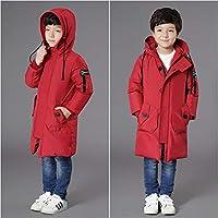 Children's Down Jacket Winter Warmth Thickening Slim Mid-Length Children's Clothing Children's Down Jacket
