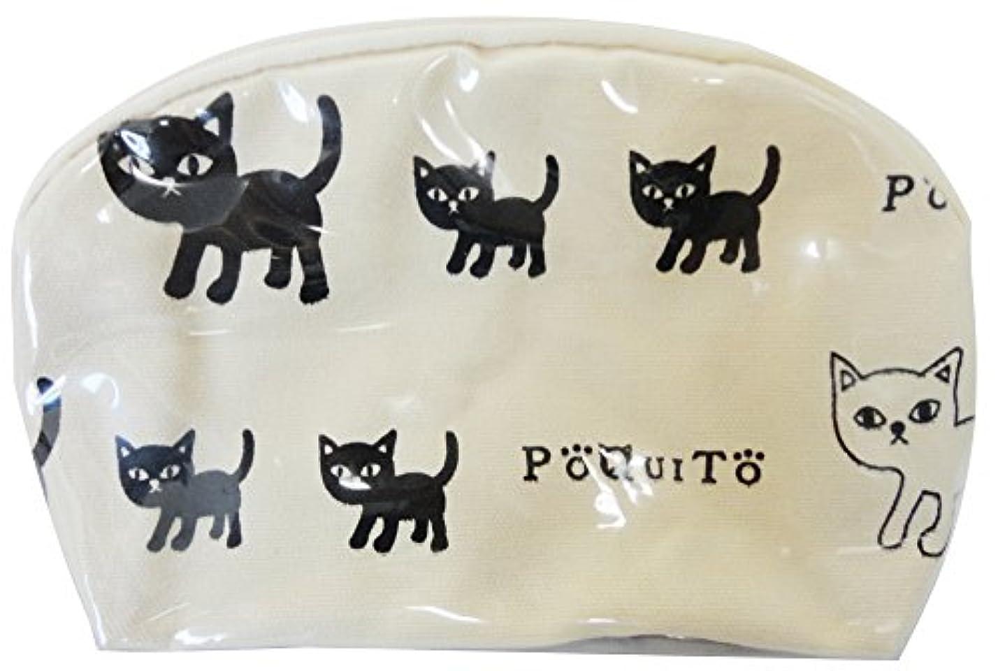 簡潔なバスルームテーブルGV 猫グッズ ポーチ ポキート A アイボリー 537348