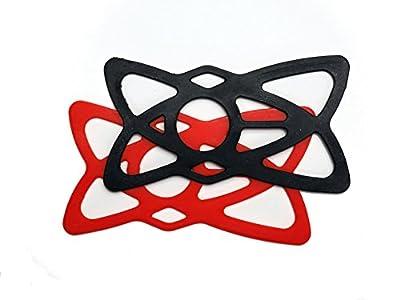 スマートフォンホルダー  ラバーバンド 赤黒2枚セット