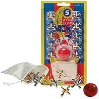 ジャックス(アメリカの伝統的な子供のおもちゃ)Metal Jacks and Rubber Ball Set [並行輸入品]