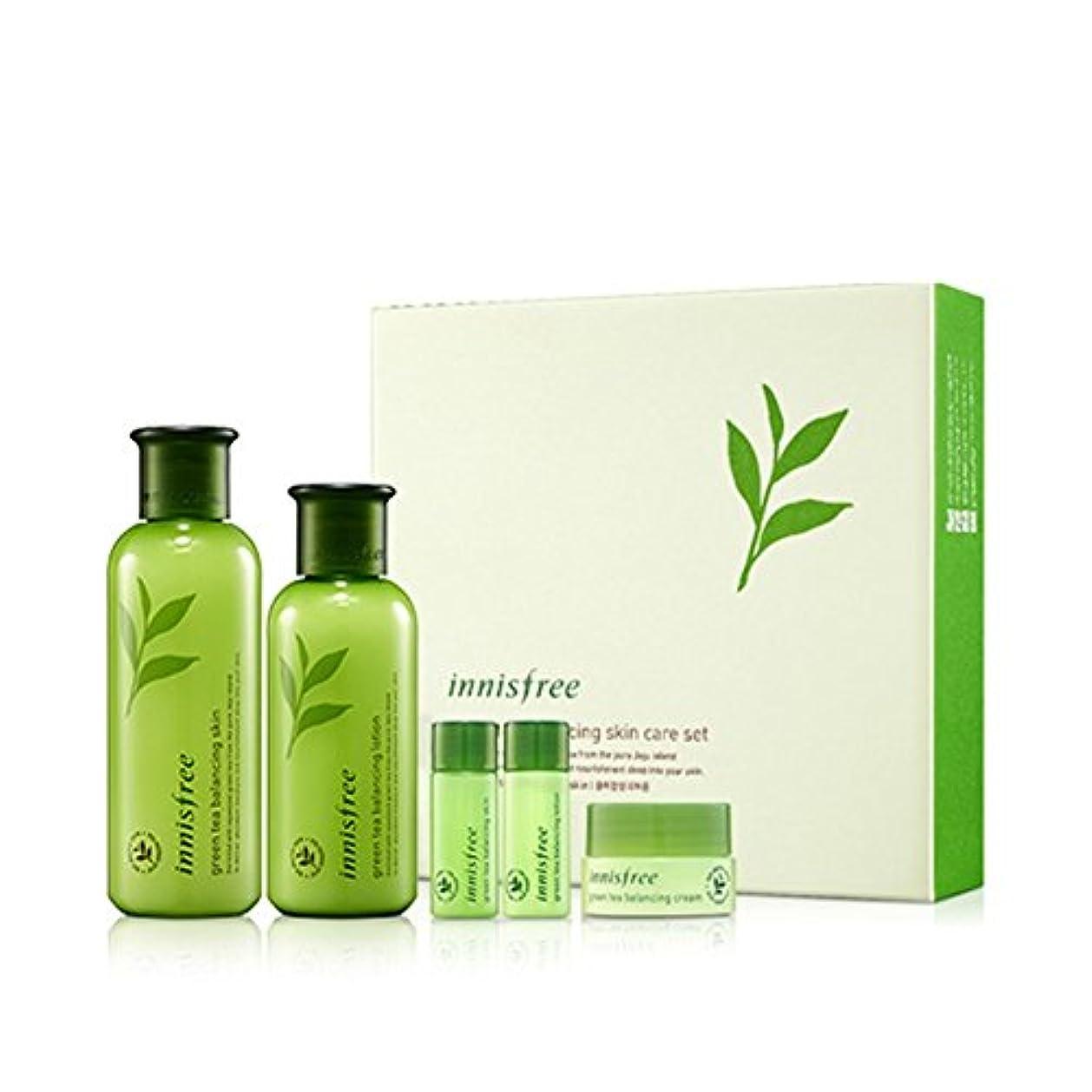 赤退屈な脇に[イニスフリー] Innisfree [グリーンティーバランシングスペシャルスキンケアセット] Green Tea Balancing Special Skin Care Set [海外直送品]