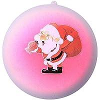 Squishies ジャンボ 低反発 子供用 Lovely Collection Toys かわいいクリスマスホットサンタクロースパン ストレス解消おもちゃ 8x8x5CM マルチカラー ILUCI