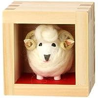和紙のお正月飾り 歳ます ふくふく羊 【未年の縁起干支飾り】 迎春 お正月 干支 置物