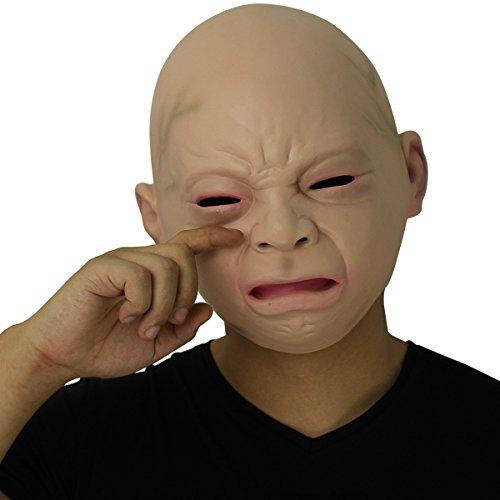 リアル赤ちゃん ベビーマスク コスプレ 大人の赤ちゃん (泣き顔)