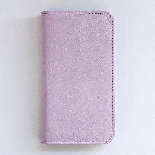 AQUOS PHONE IS14SH 手帳型ケース ラムレザー調 (カラー ラベンダー) パステルカラー ケース カバー アクオスフォン アクオス 手帳ケース 手帳カバー スマホ au エーユー