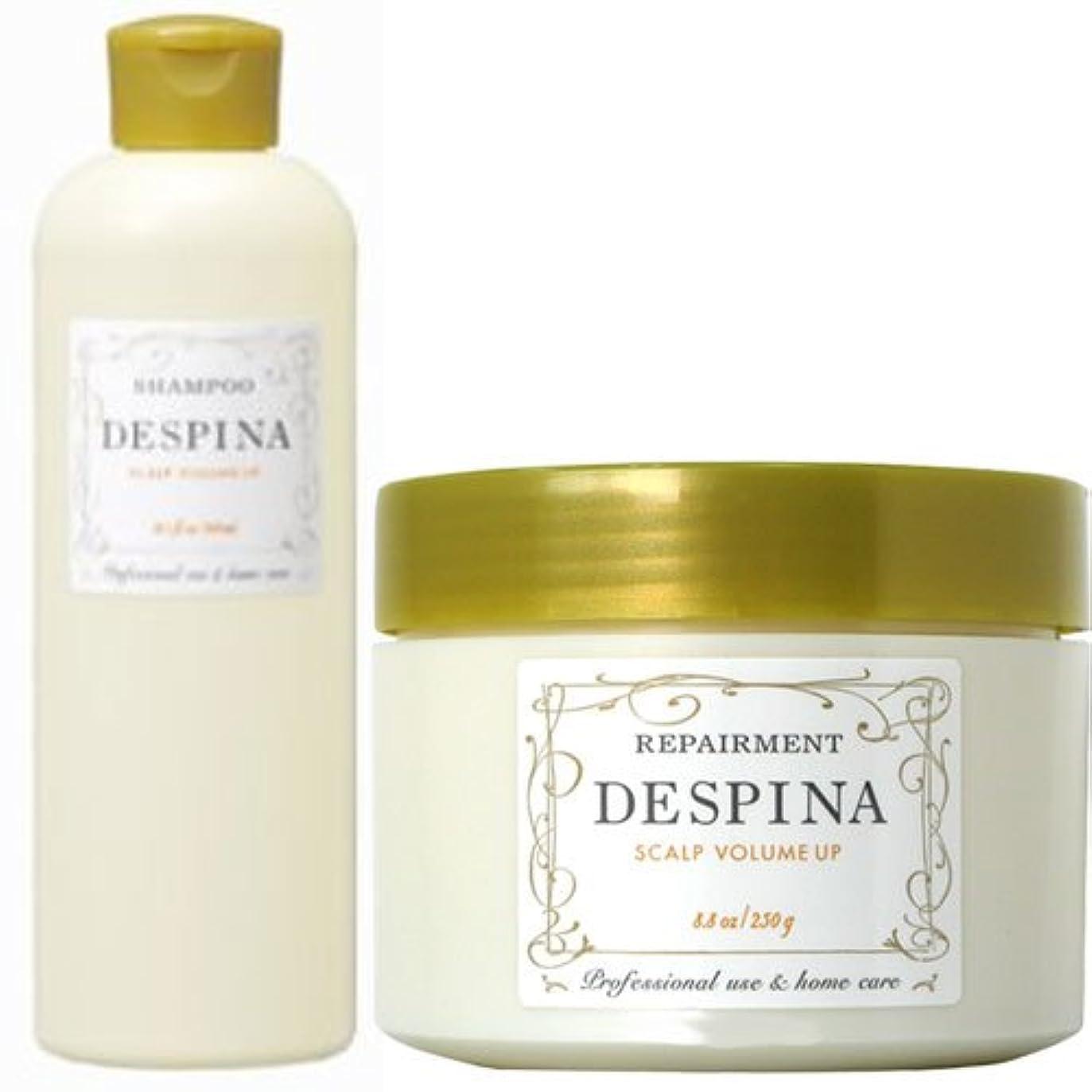 甘味調整するそれナカノ デスピナ  スキャルプ ボリュームアップ シャンプー300ml&リペアメント250gセット NAKANO DESPINA SCALP
