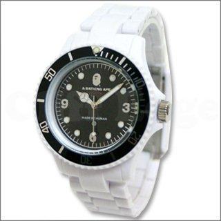 時計 BAPE BAPEX CLEAR (ベイペックス・クリア) WHITE (ホワイト) ア・ベイシング・エイプ