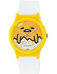 [シチズン キューアンドキュー]CITIZEN Q&Q 腕時計 ぐでたま アナログ ウレタンベルト イエロー HT01-001 ガールズ