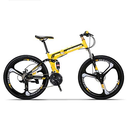 HLMIN 折りたたみ自転車26インチフォールディングマウン...