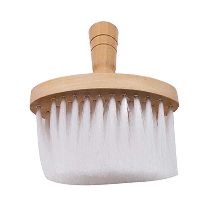 要件泥だらけ持続的VWHプロフェッショナルバーバーブラシ 木製ネックフェイスブラシサロンネックダスターブラシ 理髪 ヘアカット
