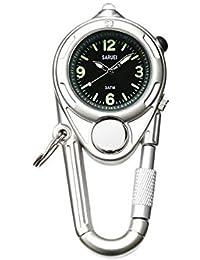 時計 キーホルダー サルエイ LEDキーウォッチ シルバー [JF052]