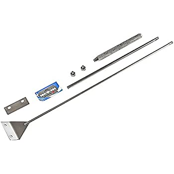 水槽 スクレーパー プロレイザー 水槽 苔 コケ取り 苔スクレーパー 掃除 65cm 替え刃付10枚付き