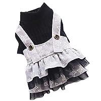 (ボラ-キキ) Bole-kk 犬の服 犬 服 スカートドッグウェア ワンピース 小型犬 中型犬 洋服 tシャツ ドレス 春夏秋 かわいい (XL, 黒)