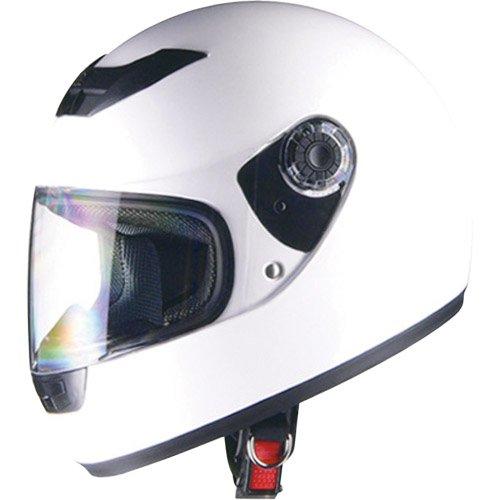 リード工業 バイクヘルメット フルフェイス CROSS スタンダード ホワイト フリーサイズ 57~60cm未満 CR-715