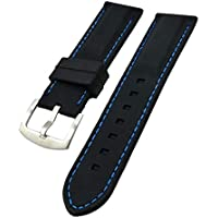 Baoblaze Men Durable Silicone Rubber Waterproof Sport Wrist Watch Band Strap 20-26mm