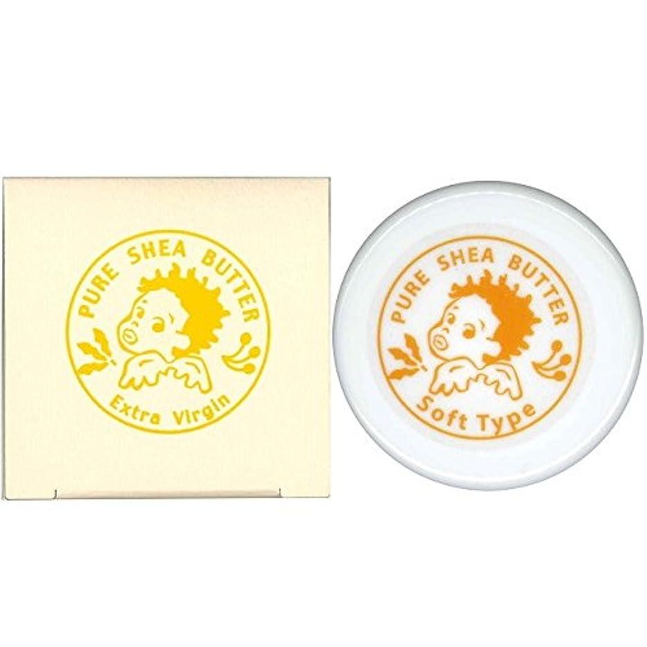 吸収するブリーフケース印をつけるマザーアース エクストラヴァージン シアバター ボディバーム ソフトタイプ 30g