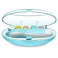 電動ネイルケアベビー用ネイルケアキット 赤ちゃん爪切りセット 赤ちゃんから大人まで使える LEDライト 超静音モーター搭載