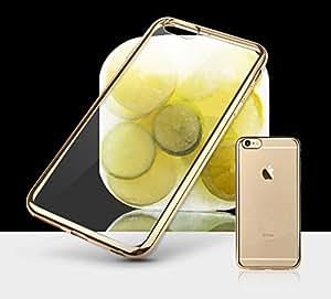 iPhone6S ケース / iPhone6 ケース シェルカバー サイドメッキ (ゴールドxクリア)