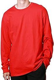 Champion(チャンピオン) ロングスリーブTシャツ メンズ ワンポイントロゴ ベーシック 長袖 Tシャツ