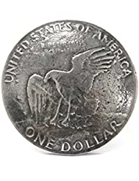 DaysArt(デイズアート)コンチョ メタルコンチョ 1ドル硬貨 イーグル ワシ コイン 丸型 サークル