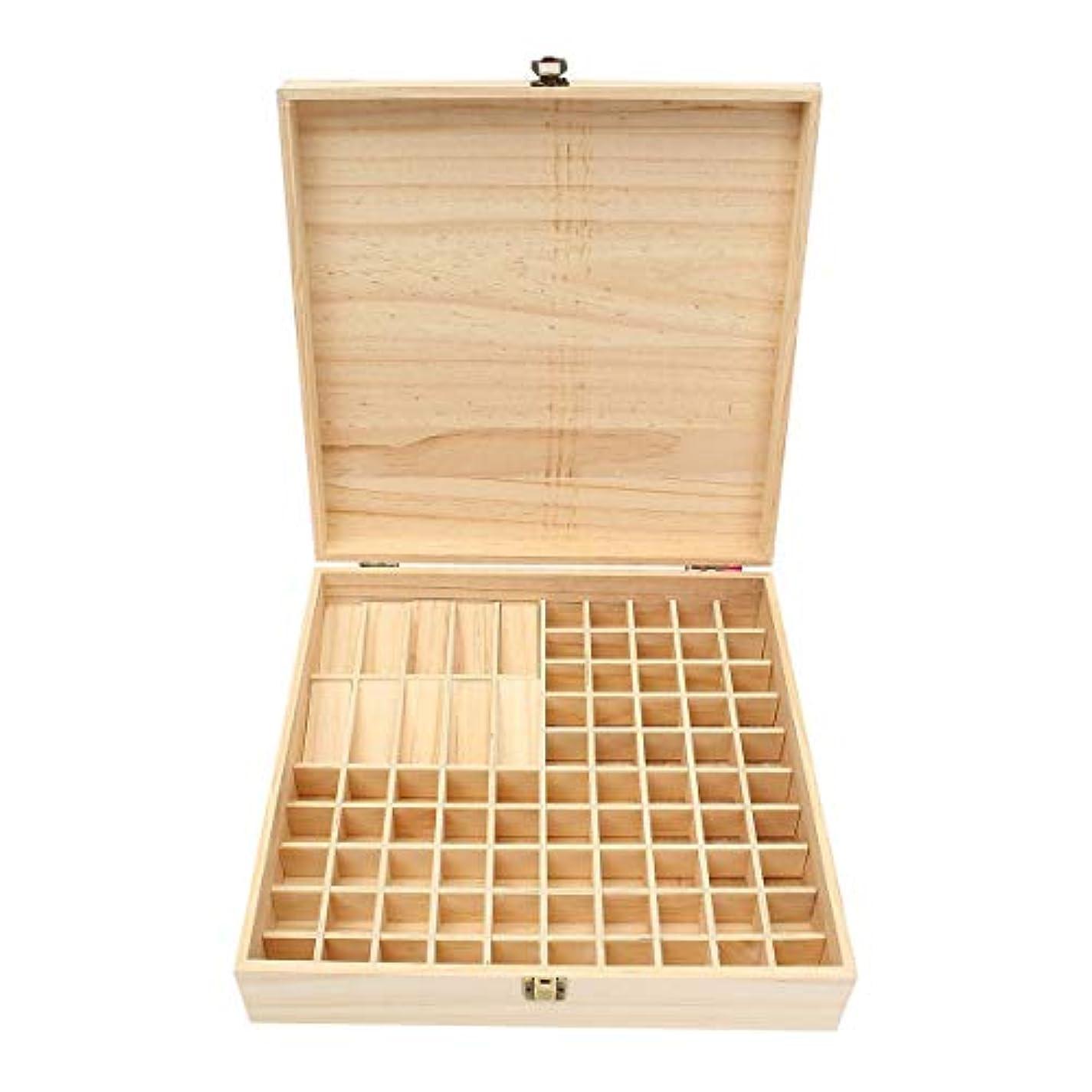 拒絶遠近法一般TINKSKY エッセンシャルオイルケース アロマケース 木製 アロマオイルスタンド 精油ボックス 精油収納 仕切りボックス 85本収納