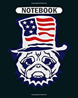 Notebook: bulldog american flag hat ok1 - 50 sheets, 100 pages - 8 x 10 inches
