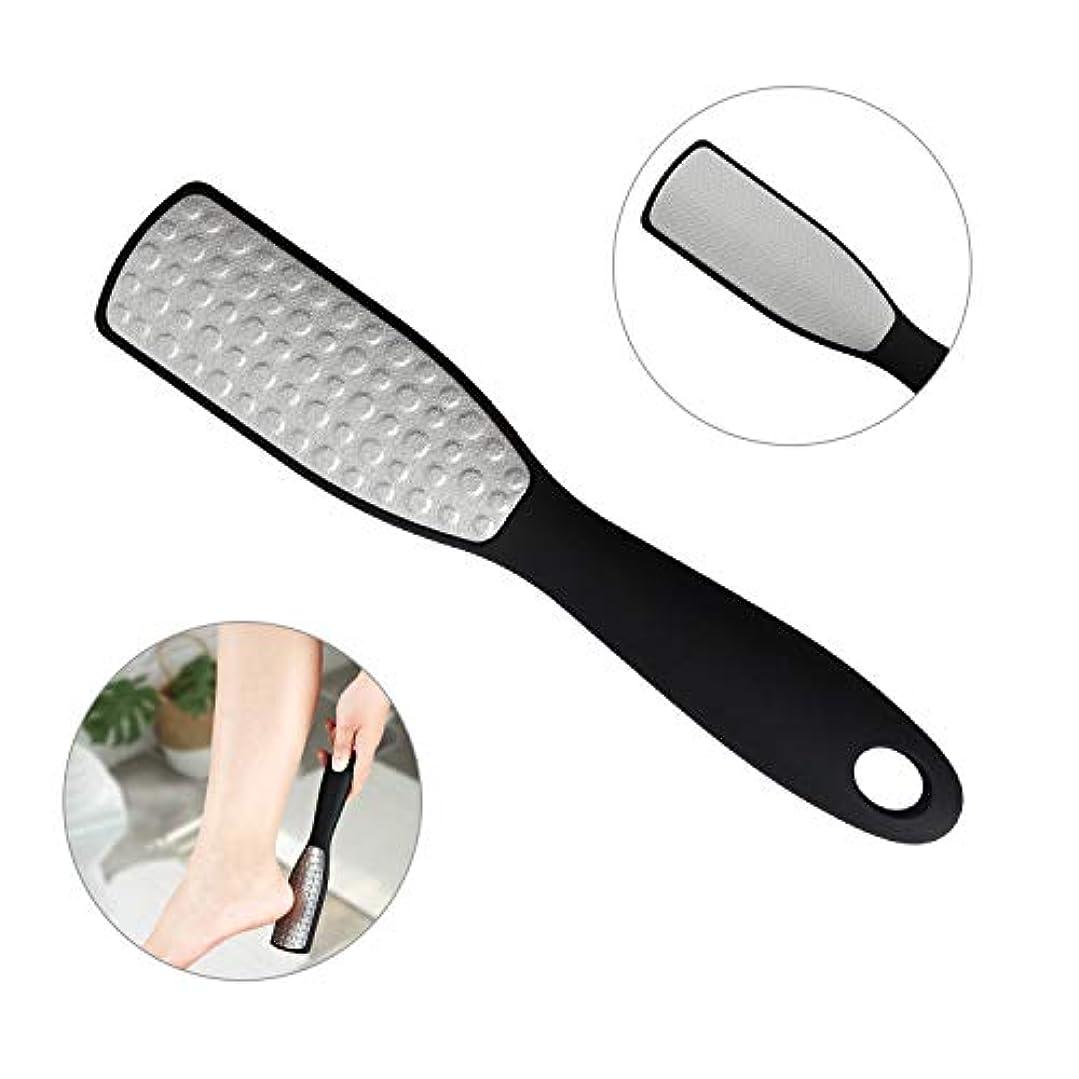 フットファイル 角質取り 角質リムーバー 角質除去 乾湿足用 スクレーパー 両面タイプ 魚の目削り 軽石