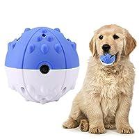 ochun犬用ボール 犬噛むボール 音声が出る TPR素材 電気振動ボール 12秒後自動オフ機能 歯磨き ストレス解消 訓練しつけ用(ブルー)