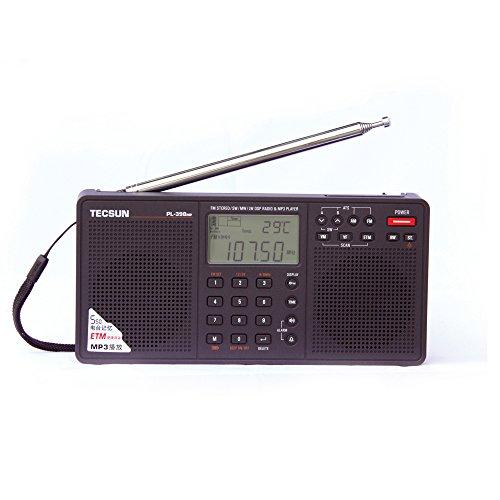 BCL라디오 PL-398MP 고감도 단파 라디오 단파/AM/FM스테레오 라디오 MP3재생(SD카드) 아이・다이렉트 오리지날 일본어 취급 설명서 첨부 블랙(검정)-PL-398MP